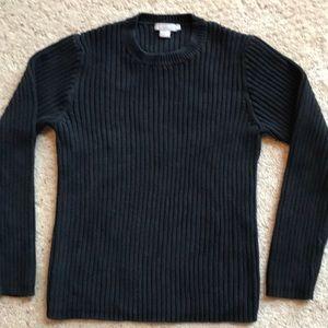 J.Crew heavy black sweater. Size L but fits like M